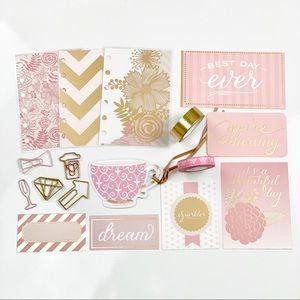 Other - Pink Glam Planner Starter Kit PM Size planner